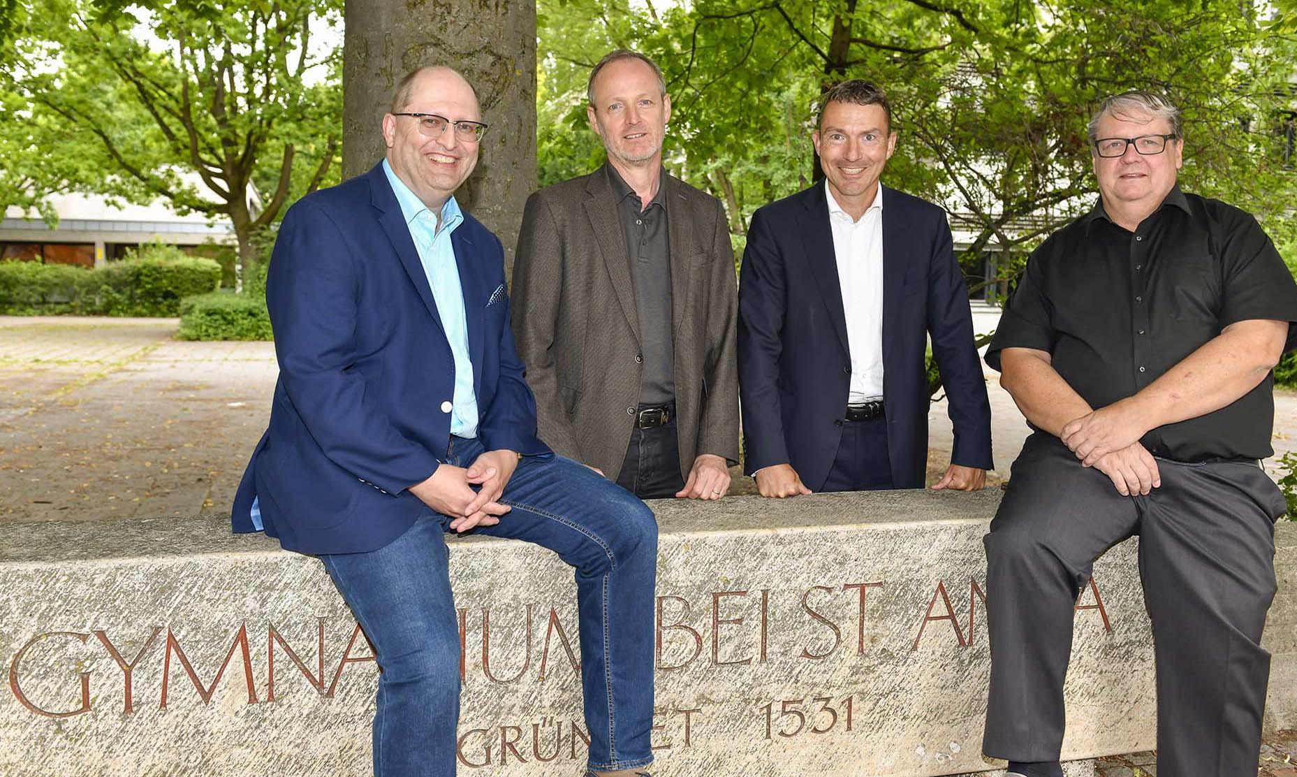 Förderverein St. Anna Gymnasium Augsburg Georg Erdmann, Bernd Raczkowsky, Martin Wöhrl, Stefan Düll, Foto Andreas Zilse